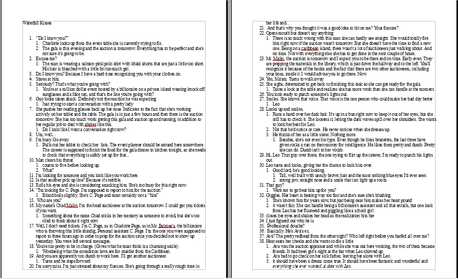 An example of a very detailed outline