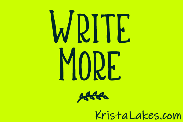 The best author advice is: WRITE MORE